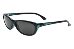 Bolle - Greta Shiny Black / Translucent Blue Sunglasses, TNS Lenses