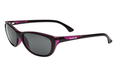 Bolle - Greta Shiny Translucent Plum Sunglasses, Polarized TNS Oleo AR Polarized Lenses