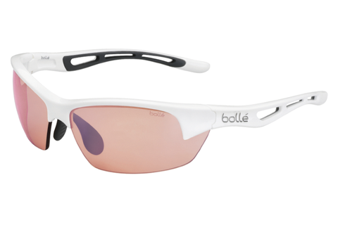 Bolle - Bolt S Shiny White Sunglasses, Modulator Rose Gun Oleo AF Lenses