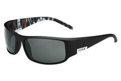 Bolle - King Matte Black/Orange Zebra Sunglasses, TNS Oleo AF Polarized Lenses