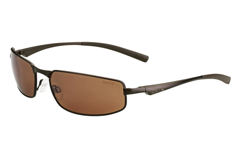 Bolle - Everglades Matte Brown Sunglasses, polarized Sandstone Gun Oleo AF Lenses