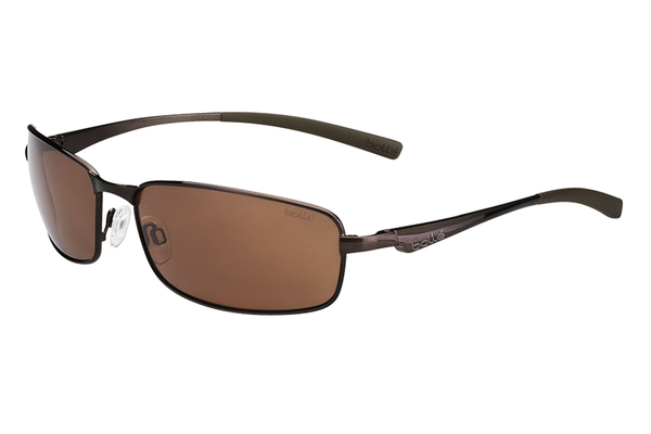Bolle - Key West Shiny Brown Sunglasses, A14 Oleo AF Polarized Lenses