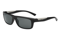 Bolle - Clint Shiny Black Sunglasses, TNS Oleo AR Polarized Lenses