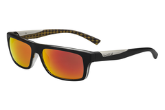 Bolle - Clint Matte Black Orange Sunglasses, TNS Fire Oleo AR Polarized Lenses