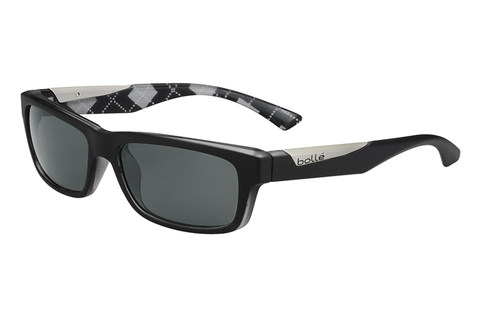 Bolle Jude Matte Black / Argyle White Sunglasses, TNS Oleo AR Polarized Lenses