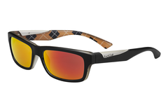 Bolle - Jude Matte Black / Orange Sunglasses, TNS Fire Oleo AR Polarized Lenses