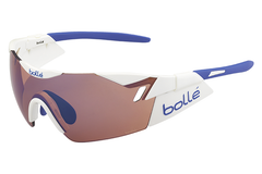 Bolle - 6th Sense Shiny White/Blue Sunglasses, Rose Blue Oleo AF Lenses