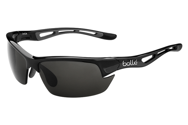 Bolle - Bolt S Shiny Black Sunglasses, PC TNS Oleo AF Polarized Lenses