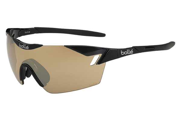 Bolle - 6th Sense Shiny Black Sunglasses, Modulator V3 Golf Oleo AF Lenses