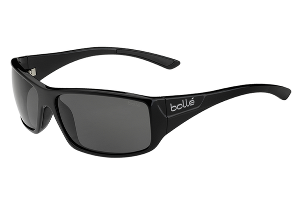 Bolle - Kingsnake Shiny Black Sunglasses, TNS Oleo AF Polarized Lenses