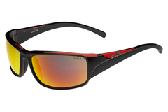 Bolle Keelback Shiny Black/ Red Translucent Sunglasses, TNS Fire Lenses
