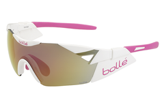 Bolle - 6th Sense S Shiny White/Pink Sunglasses, Rose Gold Oleo AF Lenses