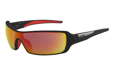 Bolle - Diamondback Matte Black Red Sunglasses, TNS Fire Lenses