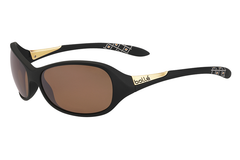 Bolle -  Grace Matte Black Sunglasses, Sandstone Gun Oleo AF Polarized Lenses