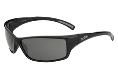 Bolle -  Recoil Matte Blue/Stripes Sunglasses, Modulator Grey Oleo AF Polarized Lenses