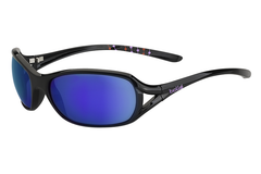 Bolle - Solden Shiny Black Sunglasses, Blue Violet Lenses
