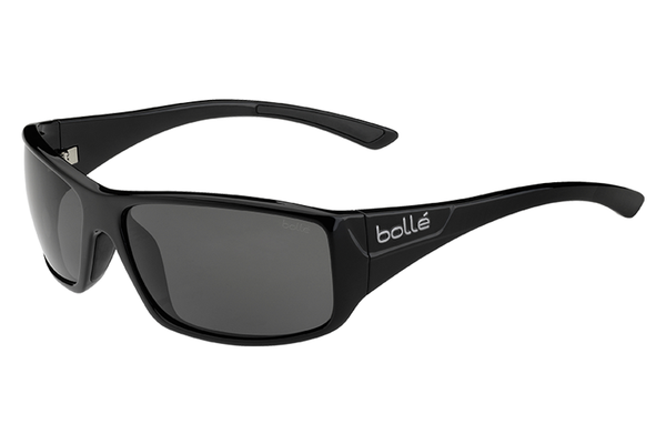 Bolle - Kingsnake Shiny Black Sunglasses, Modulator Polarized Grey Oleo AF Lenses