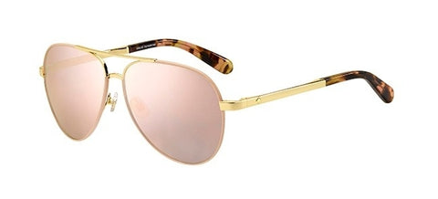 Kate Spade - Amarissa S Gold Pink Sunglasses / Gray Rose Gold Lenses