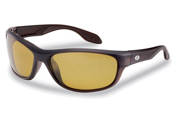 Flying Fisherman - Cayo 7824 Matte Bronze Sunglasses, Yellow-Amber Lenses