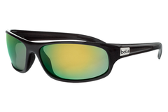 Bolle - Anaconda Matte Black Sunglasses, Polarized Brown Emerald Oleo AF Lenses
