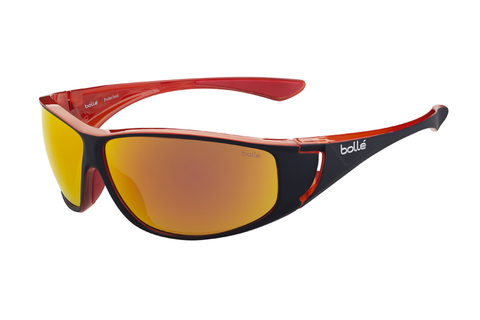 Bolle - Highwood Shiny Black/Red Sunglasses, Fire Oleo AF Polarized Lenses
