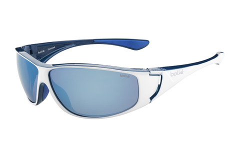 Bolle - Highwood Shiny White/Blue Sunglasses, Offshore Blue Oleo AF Polarized Lenses