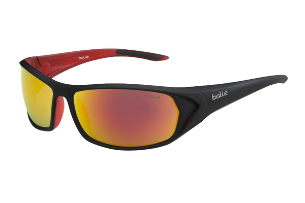 Bolle - Blacktail Shiny Black/Blue Sunglasses, TNS Fire Lenses