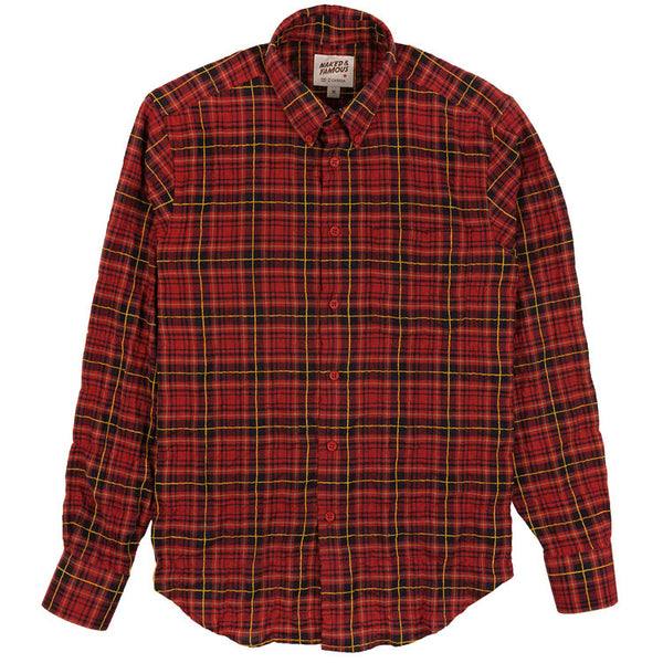 Naked & Famous Denim - Folk Flannel Red Yellow Easy Shirt