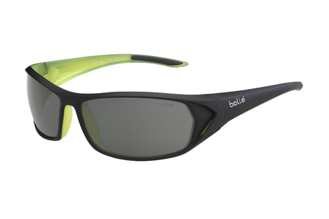 Bolle - Blacktail Matte Black/Lime Sunglasses, TNS Oleo AF Polarized Lenses