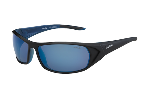 Bolle - Blacktail Shiny Black/Blue Sunglasses, Offshore Blue Polarized Lenses