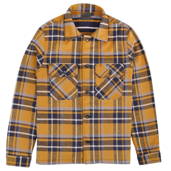Naked & Famous Denim - Heavyweight Vintage Flannel Blue Yellow Work Shirt