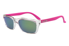 Bolle - 527 Shiny Crystal / Pink Sunglasses, Brown Emerald Lenses
