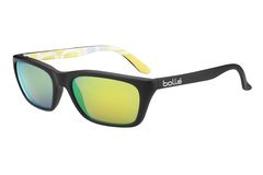Bolle - 527 Matte Graphics Sunglasses, Brown Emerald Oleo AR Polarized Lenses