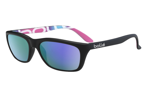 Bolle - 527 Matte Bolle Graphics Sunglasses, Blue Violet Oleo AR Polarized Lenses
