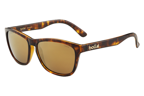 Bolle - 473 Shiny Tortoise Sunglasses, AG14 Oleo AR Polarized Lenses