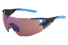 Bolle - 5th Element Pro Matte Carbon/Blue Sunglasses, Rose Blue Oleo AF Lenses