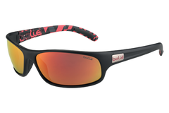 Bolle Anaconda Matte Black/Red Sunglasses, TNS Fire Lenses