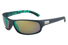 Bolle -  Anaconda Matte Blue/Green Sunglasses, Brown Emerald Oleo AF Polarized  Lenses