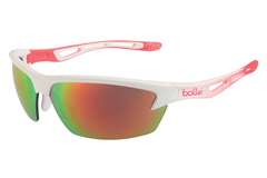 Bolle - Bolt Matte White/Fluo Orange Sunglasses, TNS Fire Oleo AF Lenses