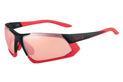 Bolle - Cadence Matte Black/Red Sunglasses, Modulator Rose Gun Oleo AF Lenses