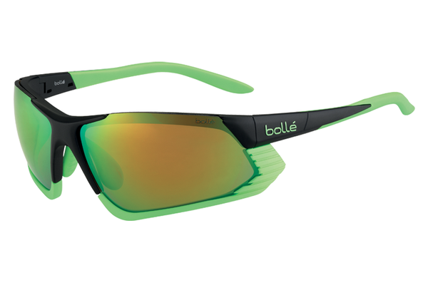 Bolle - Cadence Matte Black/Green Sunglasses, Modulator Brown Emerald Oleo AF Lenses