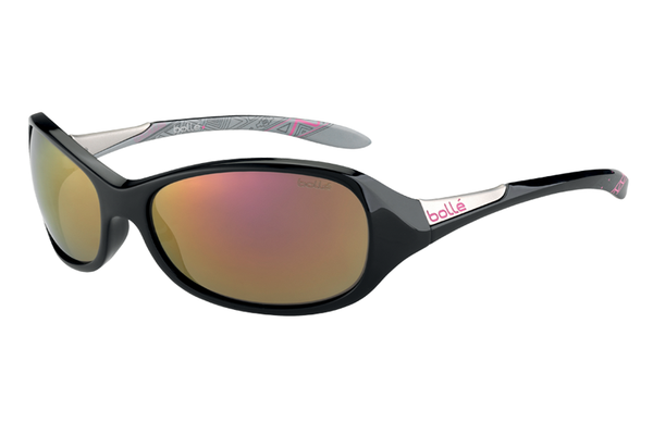 Bolle -  Grace Shiny Black/Silver Sunglasses, Rose Gold Lenses