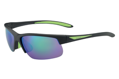Bolle - Breaker Matte Black/Green Sunglasses, Brown Emerald Oleo AF Polarized Lenses