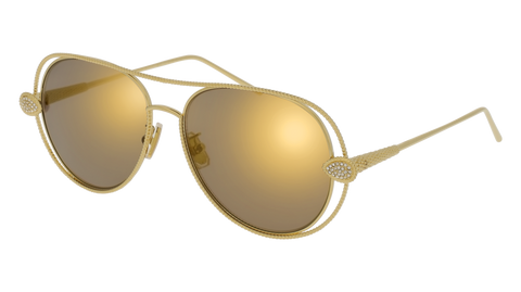 Boucheron - BC0030S Gold Sunglasses / Gold Lenses