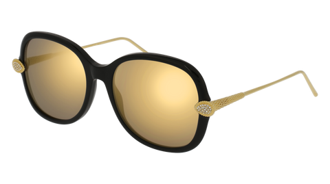 Boucheron - BC0032S Black Gold Sunglasses / Gold Lenses