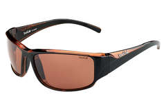 Bolle - Keelback Shiny Black/Brown Sunglasses, TLB Dark Lenses
