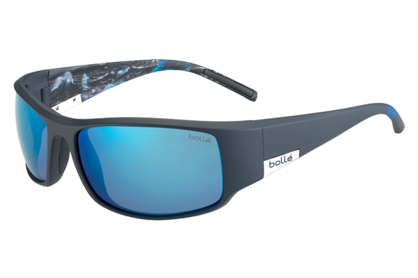 Bolle - King Matte Blue Sea Sunglasses, Offshore Blue Oleo AF Polarized Lenses