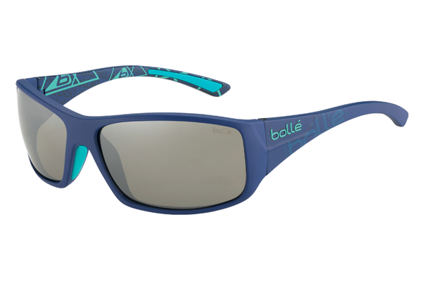 Bolle - Kingsnake Matte Blue Sunglasses, TNS Gun Oleo AF Polarized Lenses
