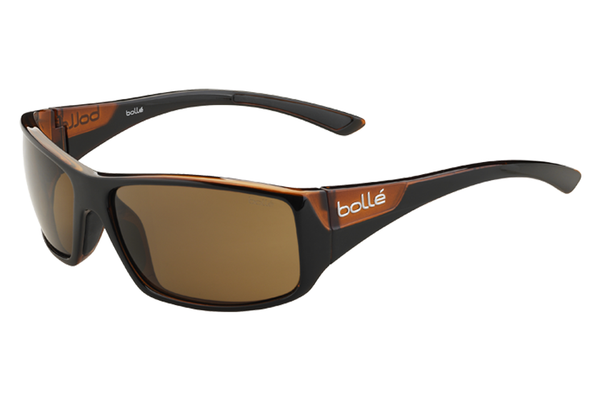 Bolle - Kingsnake Shiny Black/Matte Brown Sunglasses, TLB Dark Lenses