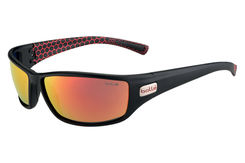Bolle - Python Matte Smoke/Red Sunglasses, TNS Fire Lenses